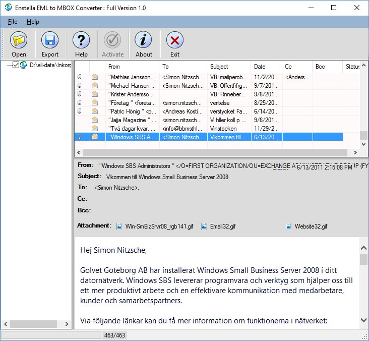 EML to MBOX Converter Software to Convert EML File into MBOX