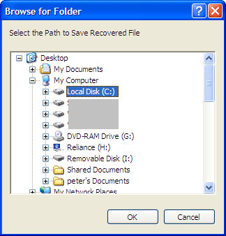 how to change ost file location