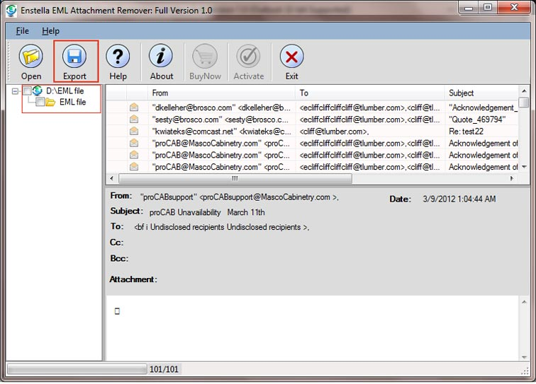 EML Attachment Remover 1.0 full